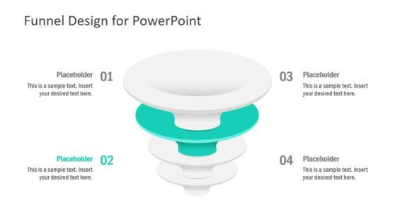 Vertical Funnels for Marketing Diagram PPT