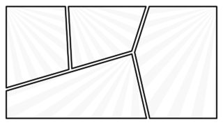 Creative Panel Designs of Comic Magzine
