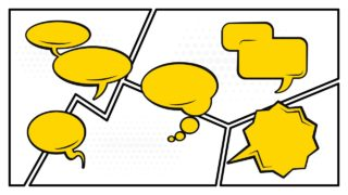 Frames of Comic Book with Speech Bubbles