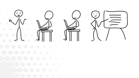 Business Illustration Stick Figures PowerPoint