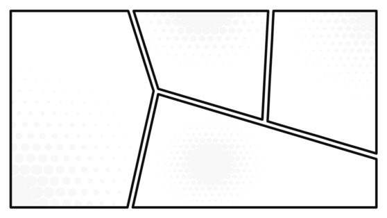 Template of Black and White Comic Layouts