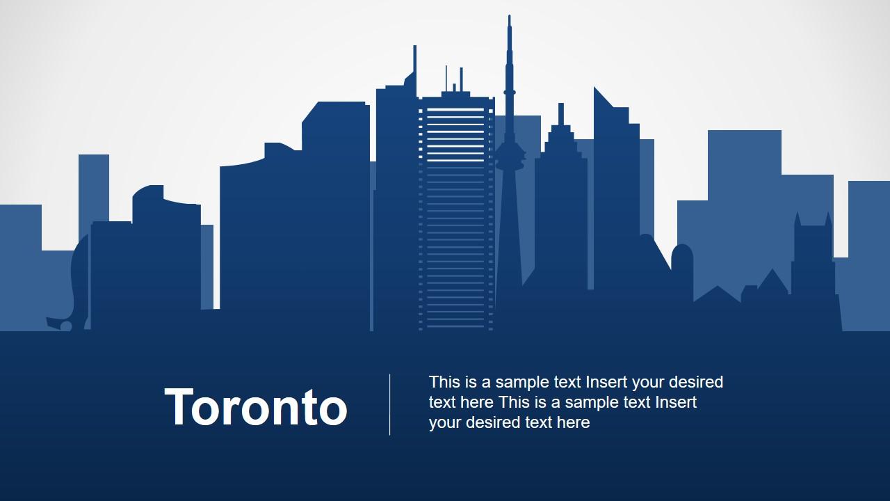 Toronto Skyline Silhouette PPT