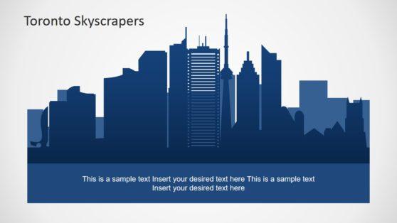 Toronto Skyline Presentation Silhouette