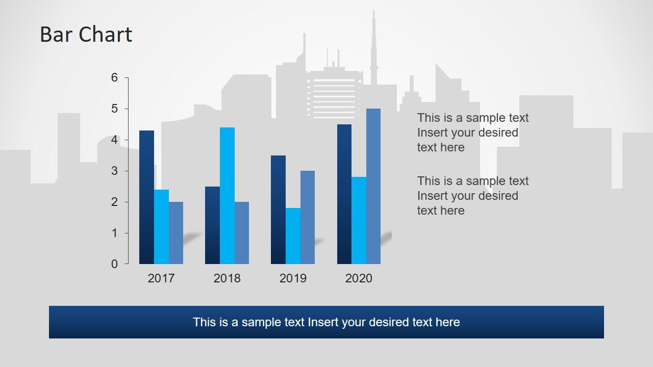 Data Chart Layout for Toronto Skyline Slide