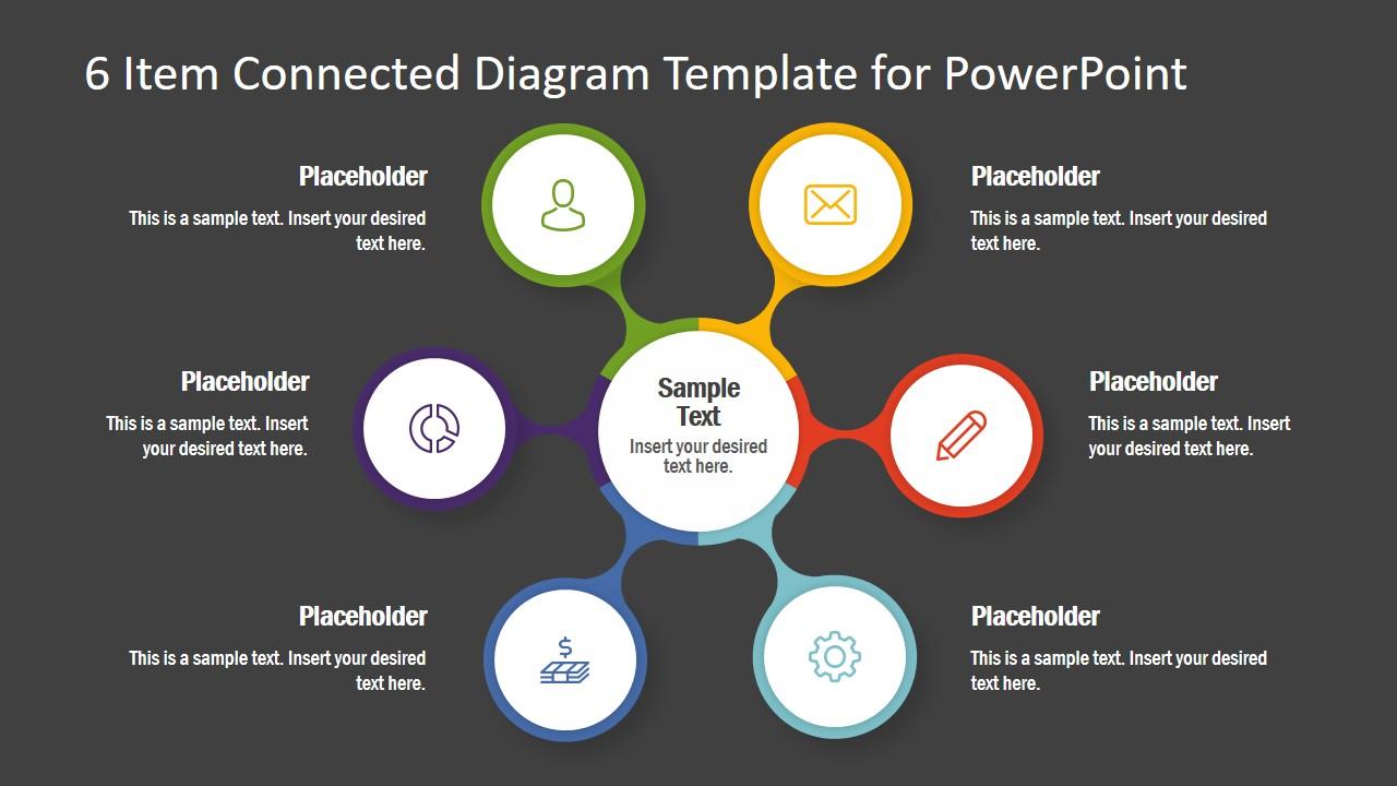 Slide of 6 Items Spoke Diagram