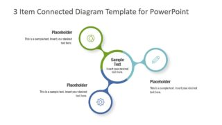 3 Item Connected Diagram Template for PowerPoint
