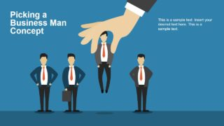 Picking a Business Man Concept PowerPoint Template