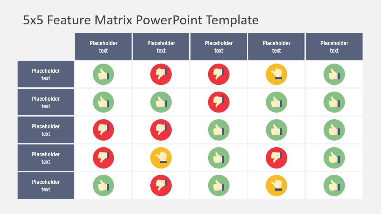 Matrix Data Table PowerPoint