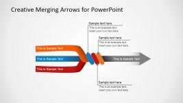 Slide with 3 Arrows Converging in 1 Final Arrow