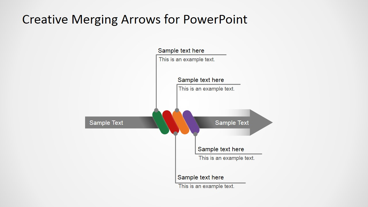 Converging Arrows in PowerPoint Explanation