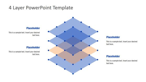 Flat PowerPoint 4 Layer Diagram