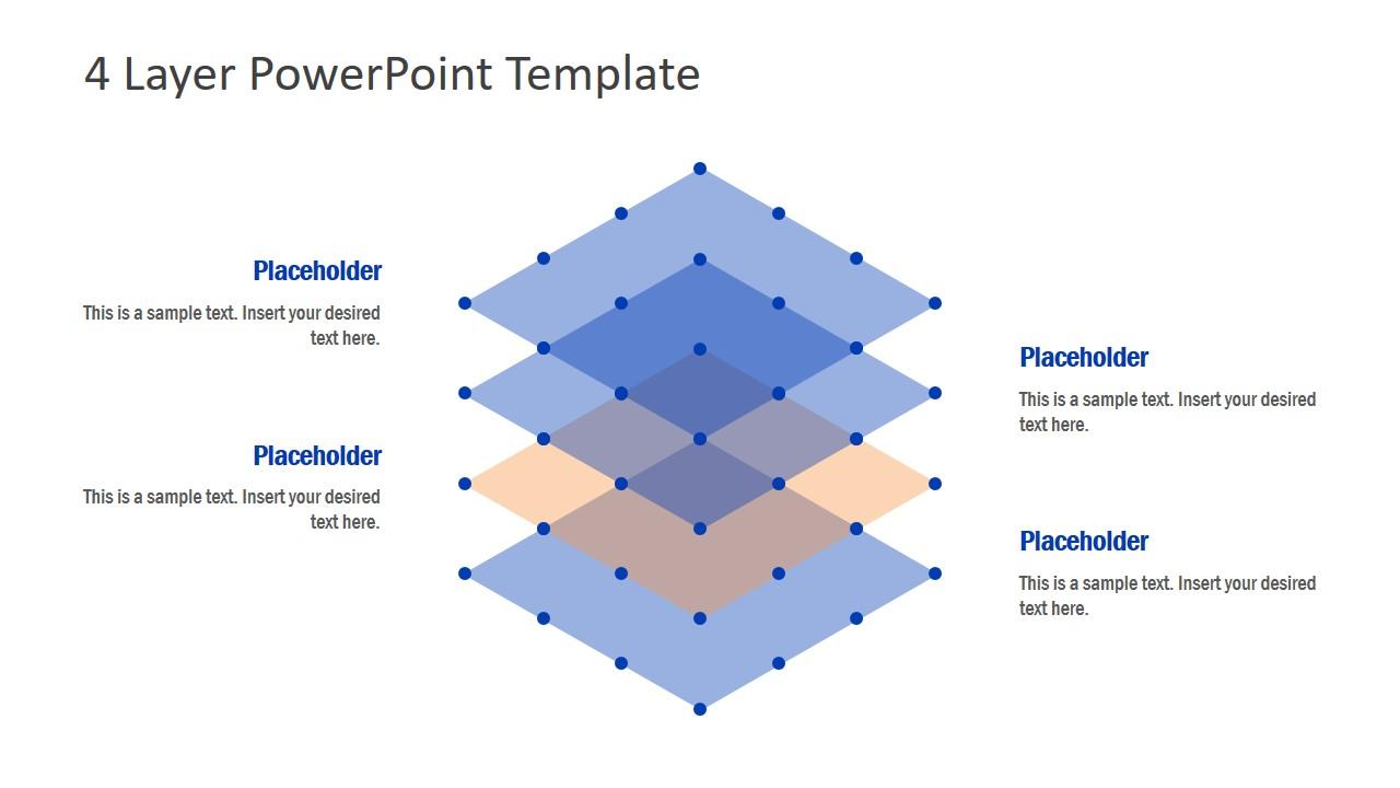 Template 4 Level 3D Diagram