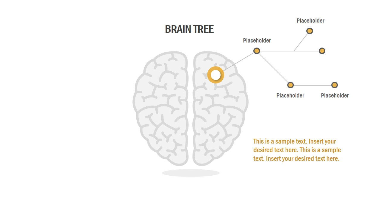 brain tree powerpoint template