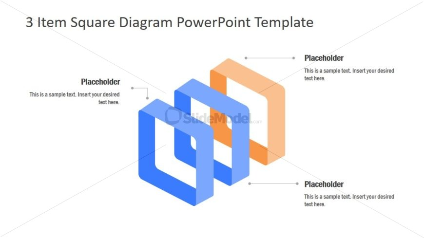 3D Square Diagram Template