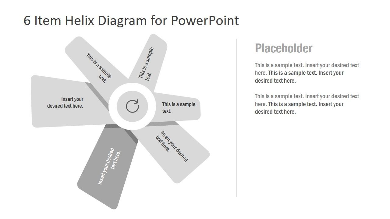 PPT Helix Diagram in Fan Shape