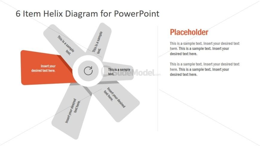 6 Items Helix PowerPoint