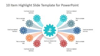 10 Item Highlight Slide PowerPoint Template