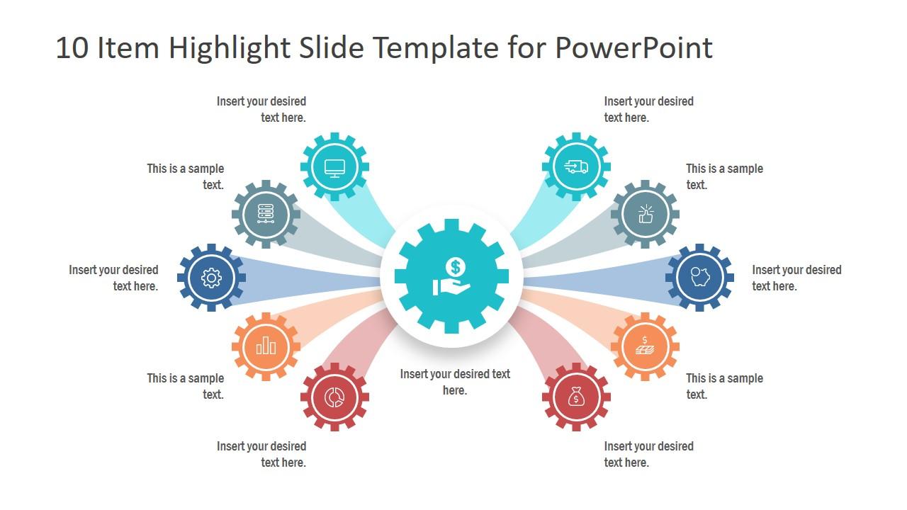 Comparison Design 10 Items PPT