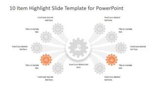 5 Comparison Sections Slide