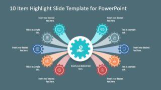 Presentation of 10 Item Agenda Slide