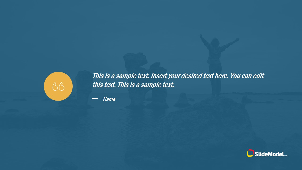 Quotation with Background PowerPoint