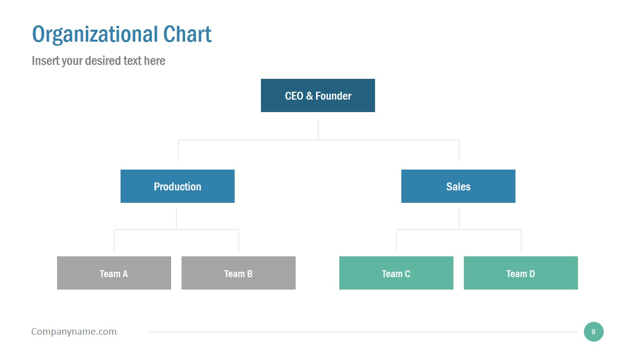 Simple Slide Deck for Organizational Chart