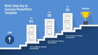 Multi-Step Key to Success PowerPoint Template