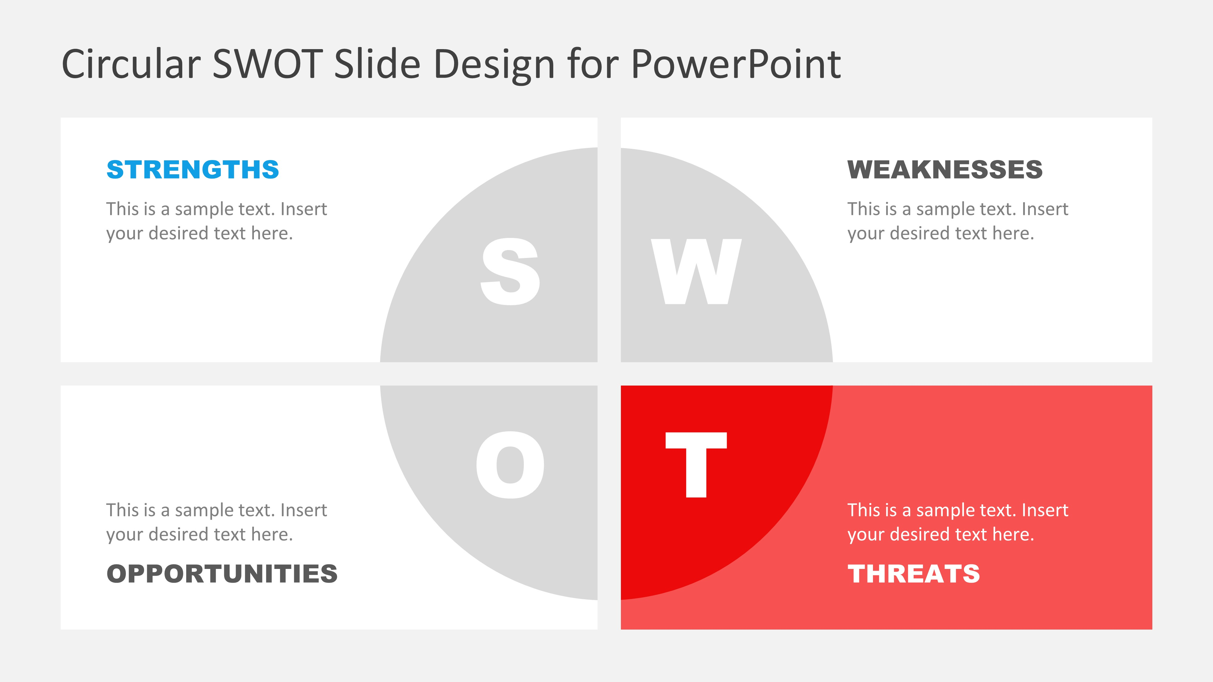 PowerPoint Diagram Template of SWOT