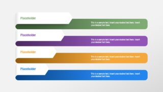 Simple 4 Item Strategy Diagram PowerPoint Template