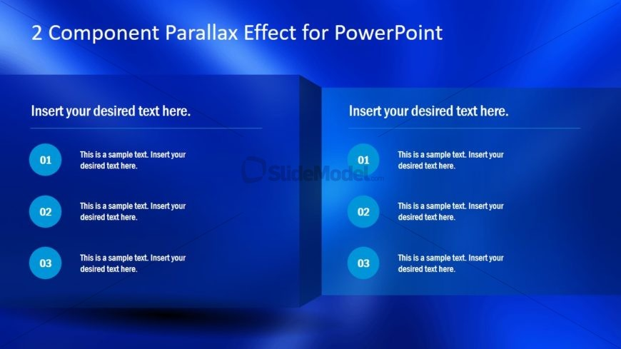 Parallax Effects Bullet List Points