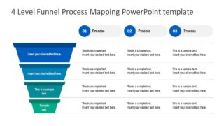 4 Level Funnel Process Mapping PowerPoint Template