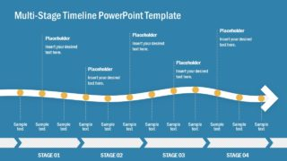 12 Milestone Timeline PowerPoint