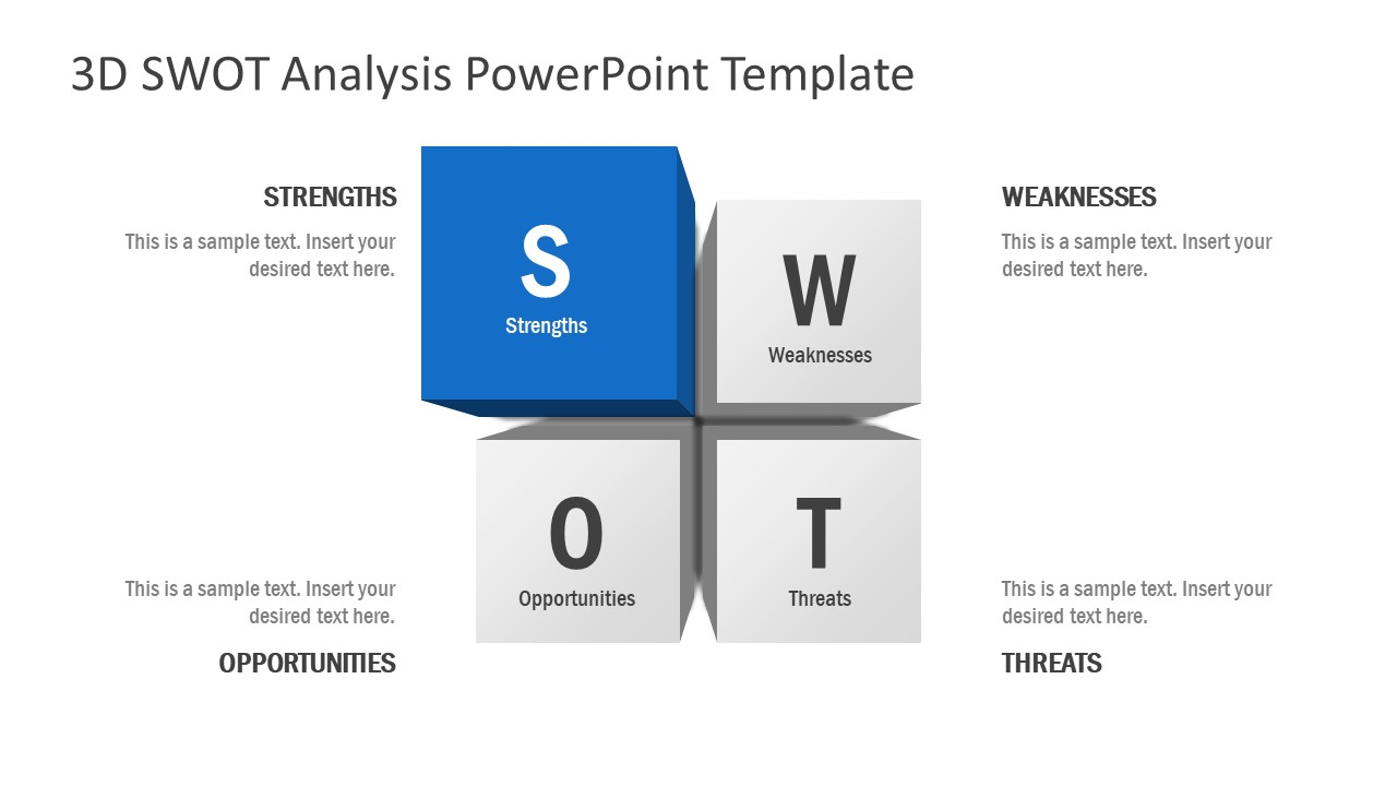 Strength Section 3D SWOT