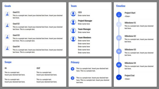 Infographic Canvas for Project Charter