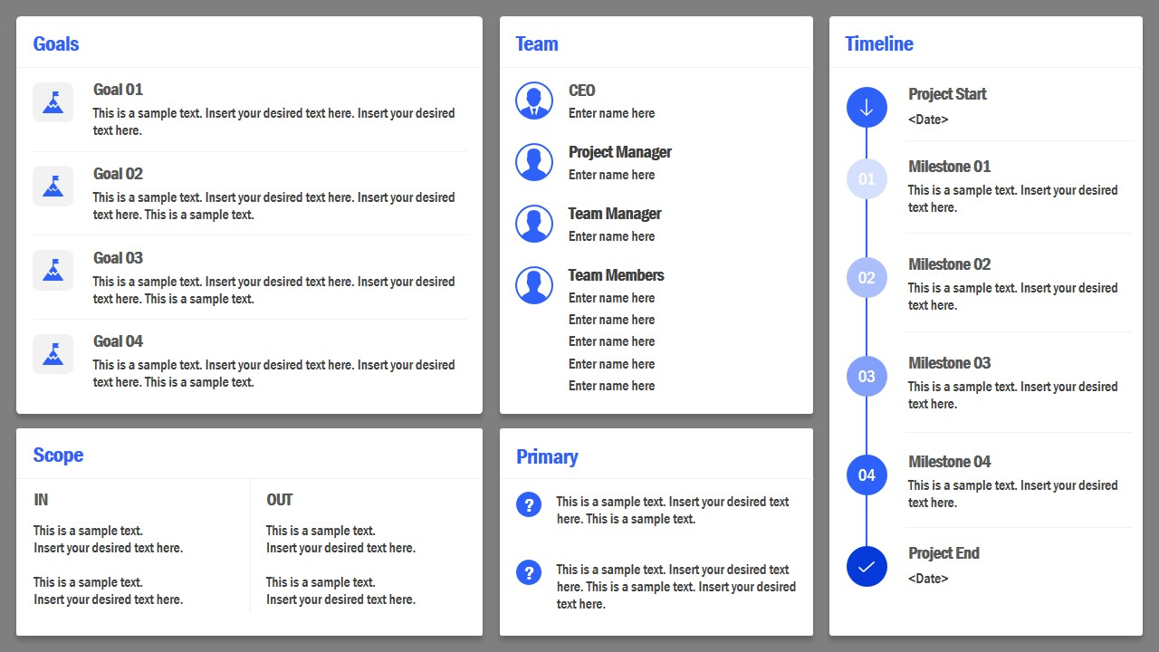 project charter powerpoint template
