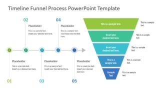 5 Steps Timeline Funnel