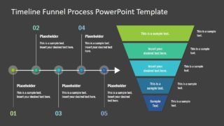 PowerPoint Diagram Funnel and Timeline