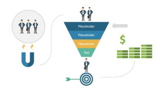 Magnet PowerPoint Funnel Diagram