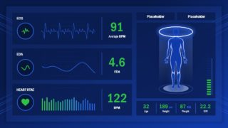 Human Health Check Dashboard PowerPoint Template