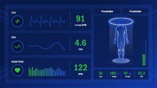 Infographics Heath Check Dashboard Screen