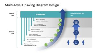 Multi-Level Upswing Diagram PowerPoint Template