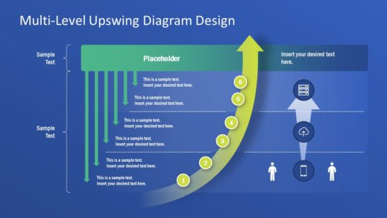 Upswing Arrow Graph PowerPoint