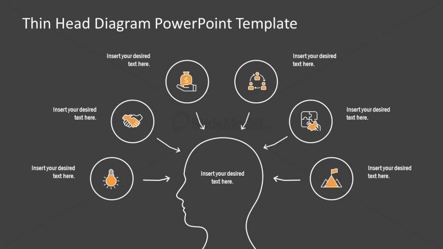 PPT 6 Infographic Head Shape Diagram
