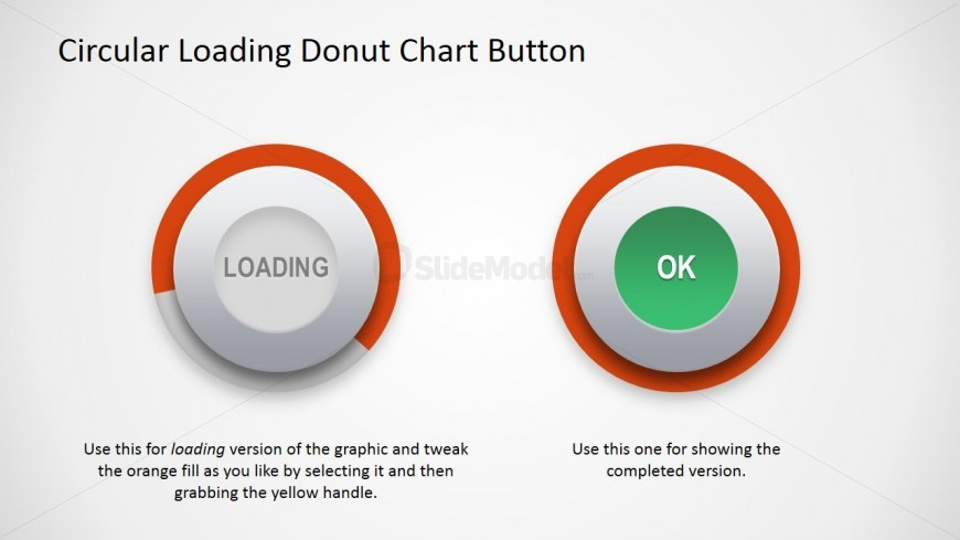PPT Template Donut Chart Button Shape