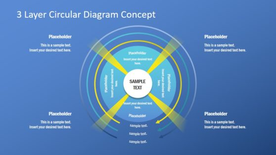 PowerPoint Circular Diagram 3 Layers