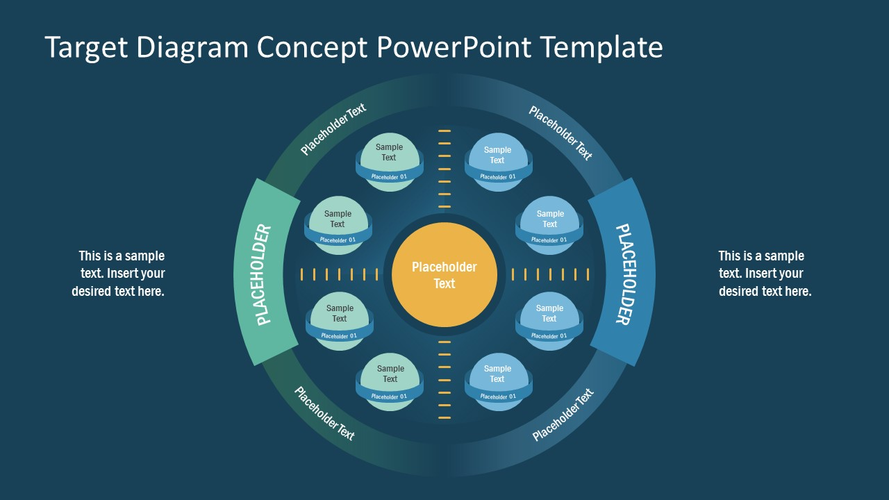 Concentric Circle 3 Layer PowerPoint