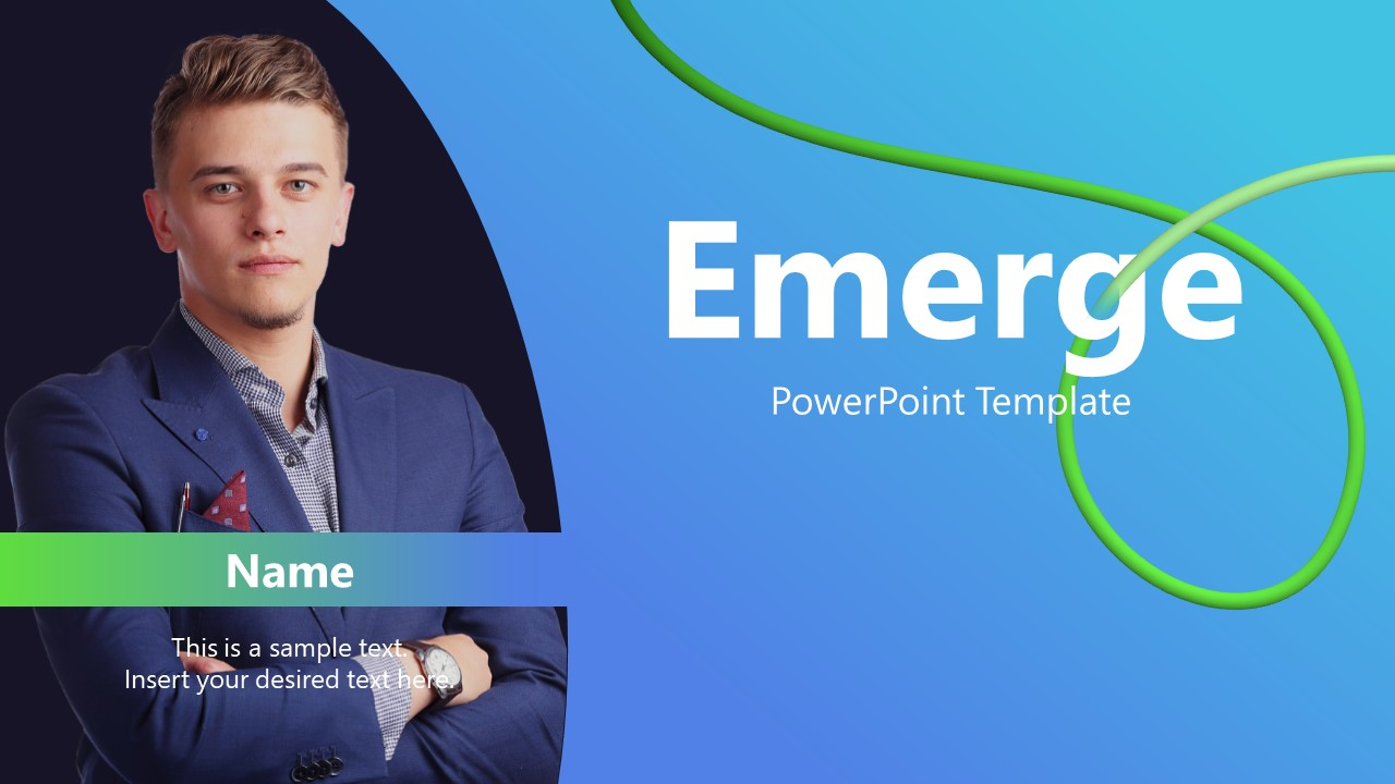 Presentation of Business Emerge powerpoint