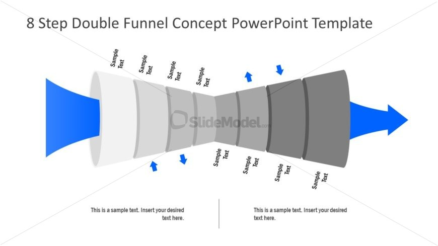 PowerPoint Funnel of 8 Levels