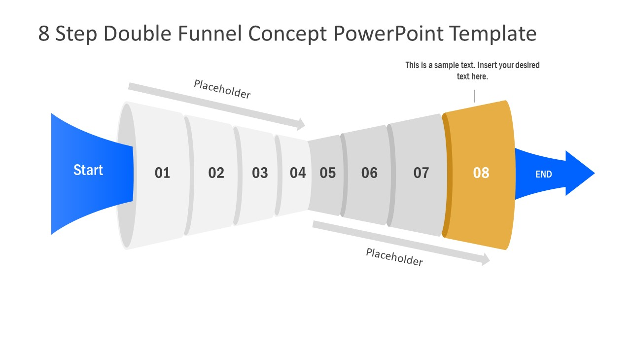 Funnel Diagram of 8 Step PPT