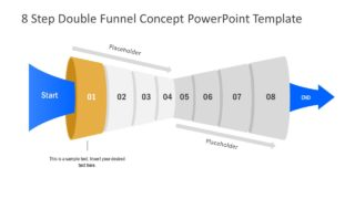 Funnel Diagram of 1 Step PPT